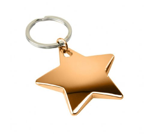 DoratO 24ct Gold Star Keyring Colour Sample